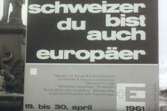 """Poster: """"Svizzero, sei anche tu  europeo"""""""