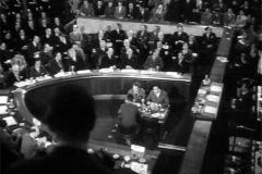 Blick auf den Konferenzsaal der Genfer Konferenz über Korea und Indochina. Schweizerische Filmwochenschau vom 7.5.1954