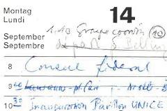 Agenda de Pierre Graber, septembre 1970, dodis.ch/48161