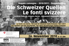Plakat Tagung Schweiz-Italien