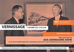 Bundesrat Max Petitpierre (links) mit Bundeskanzler Konrad Adenauer, Juli 1951