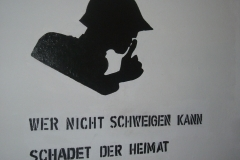 «If you can't keep silent, you'll harm our country» - propaganda slogan from 1940