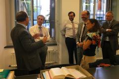 Il consigliere federale Ignazio Cassis in visita al centro di ricerca Dodis