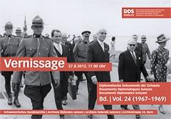 Bundesrat Willy Spühler (Mitte) an der Weltausstellung in Montreal 1967