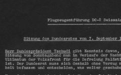 Réunion de crise du Conseil fédéral au lendemain du 7 septembre 1970, dodis.ch/35415.