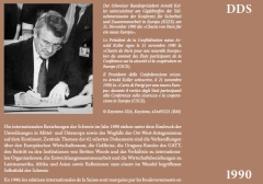 Arnold Koller, President of the Swiss Confederation, signs the «Paris Charter for a New Europe» at the summit of the participating states of the Conference for Security and Cooperation in Europe (CSCE) on November 21, 1990.